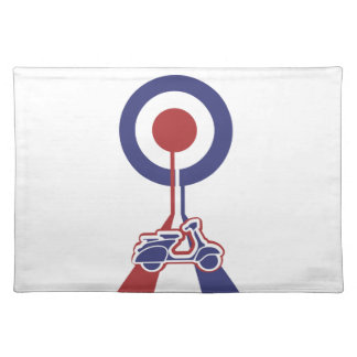 Retro look scooter mod target design cloth placemat