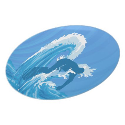 Retro look surfer plates