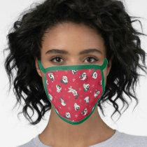 Retro LOONEY TUNES™ Winter Holiday Pattern Face Mask