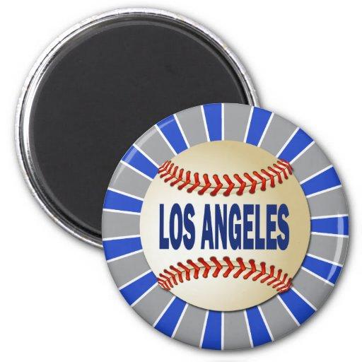 RETRO LOS ANGELES BASEBALL FRIDGE MAGNETS
