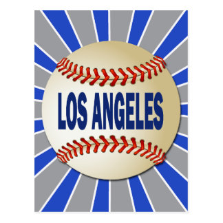 RETRO LOS ANGELES BASEBALL POSTCARD