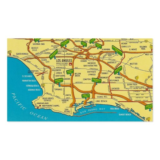Retro Los Angeles Business Card Templates