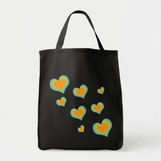 Retro Love Hearts for Valentines Day Bag