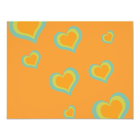 Retro Love Hearts for Valentines Day Card