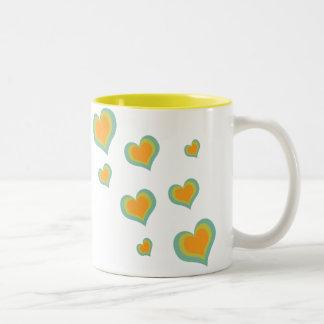 Retro Love Hearts for Valentines Day Coffee Mug