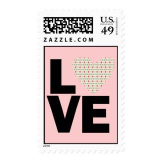 Retro Love Postage Stamp