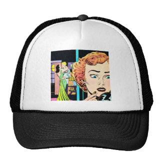Retro Love Romance Relationship Art Hat