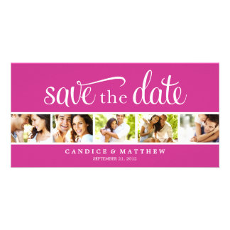 RETRO LOVE | SAVE THE DATE ANNOUNCEMENT PHOTO GREETING CARD