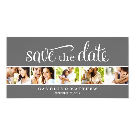 RETRO LOVE   SAVE THE DATE ANNOUNCEMENT PERSONALIZED PHOTO CARD