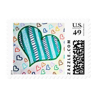 Retro Love Stamp