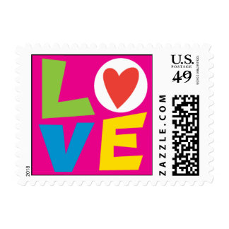 Retro Love Stamp pink