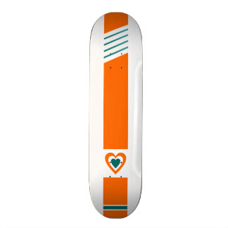 retro love stripe skateboard