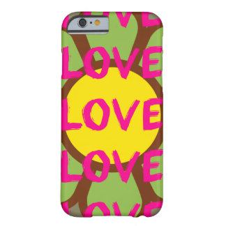 Retro Love Typography Barely There iPhone 6 Case