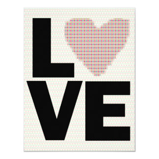 Retro Love Valentines Day Party 4.25x5.5 Paper Invitation Card