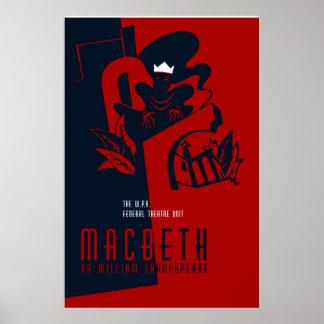 Retro Macbeth William Shakespeare Poster