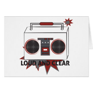 Retro Machines Boom Box Greeting Card