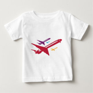 Retro Mad Dog Airplane Jet Flight Design Baby T-Shirt