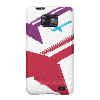 Retro Mad Dog Airplane Jet Flight Design Samsung Galaxy SII Cover