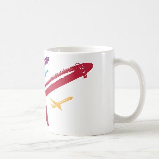 Retro Mad Dog Airplane Jet Flight Design Coffee Mug