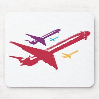 Retro Mad Dog Airplane Jet Flight Design Mouse Pad