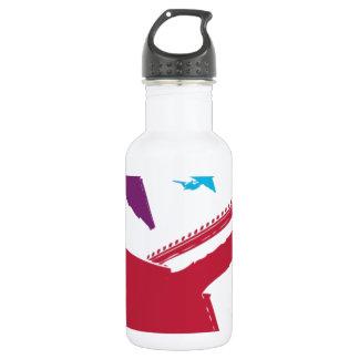 Retro Mad Dog Airplane Jet Flight Design 18oz Water Bottle