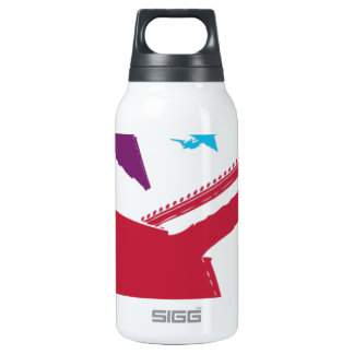 Retro Mad Dog Airplane Jet Flight Design SIGG Thermo 0.3L Insulated Bottle