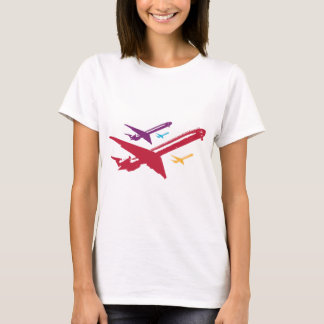 Retro Mad Dog Airplane Jet Flight Design T-Shirt