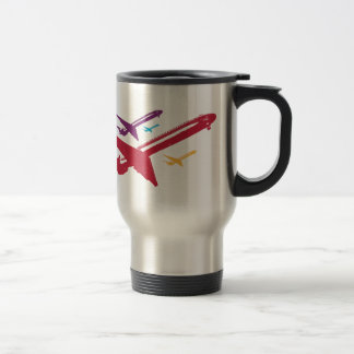 Retro Mad Dog Airplane Jet Flight Design Travel Mug