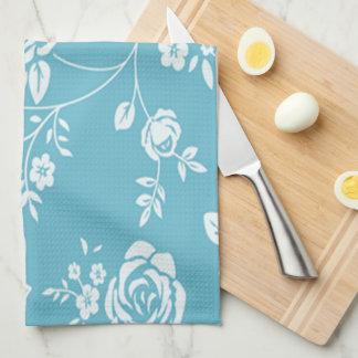 Retro_Maggie-Floral_Maggie Blue* Custom Color_ Hand Towel