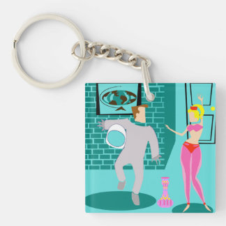 Retro Magical Genie Acrylic Keychain