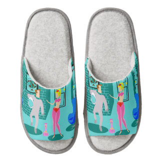 Retro Magical Genie Pair of Slippers Pair Of Open Toe Slippers