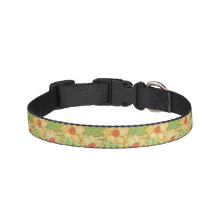 Retro Magnolia Pattern Pet Collar