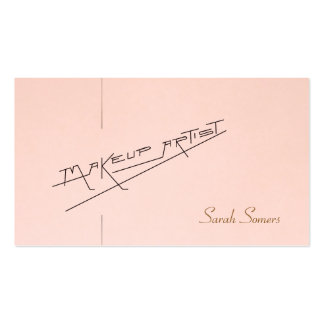 Retro Makeup Artist Beauty Salon Light Pink Double-Sided Standard Business Cards (Pack Of 100)