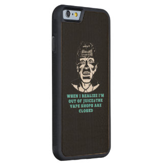 Retro Man Vape Shops Closed Black Green Carved® Maple iPhone 6 Bumper