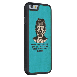 Retro Man Vape Shops Closed Black Green Carved® Maple iPhone 6 Bumper Case