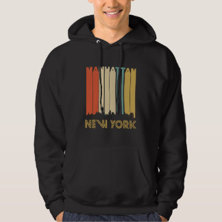 Retro Manhattan New York Skyline Hoodie