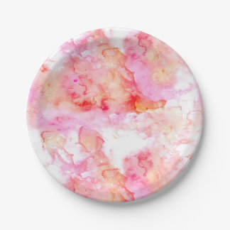 Retro Marble Stone Texture Pattern 7 Inch Paper Plate