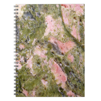 Retro Marble Stone Texture Pattern Spiral Notebooks
