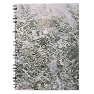 Retro Marble Stone Texture Pattern Spiral Notebook