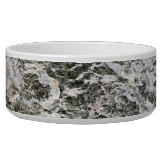 Retro Marble Stone Texture Pattern Dog Food Bowl