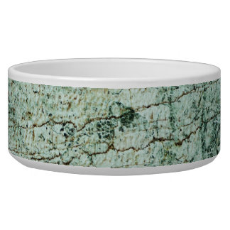 Retro Marble Stone Texture Pattern Dog Bowls