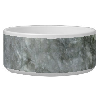 Retro Marble Stone Texture Pattern Dog Bowl
