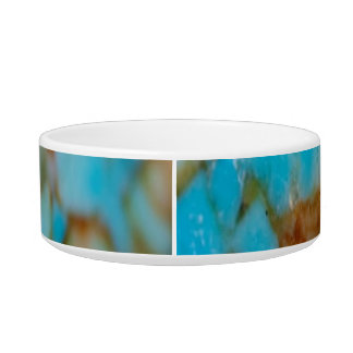 Retro Marble Stone Texture Pattern Cat Water Bowls