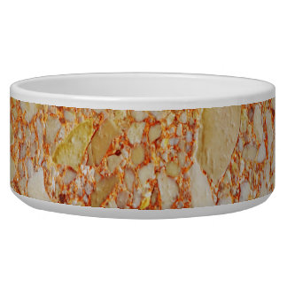Retro Marble Stone Texture Pattern Pet Water Bowl