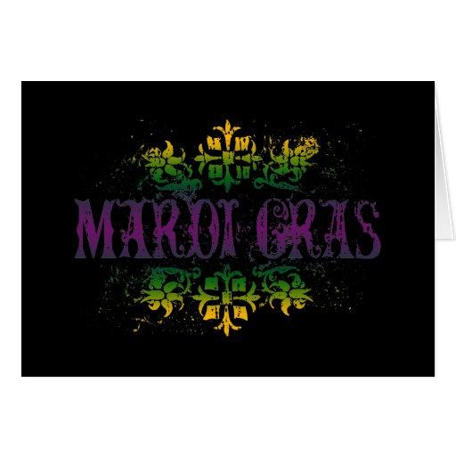 Retro Mardi Gras Greeting Card