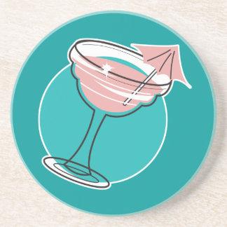 retro margarita design beverage coasters