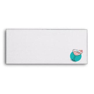 retro margarita design envelope