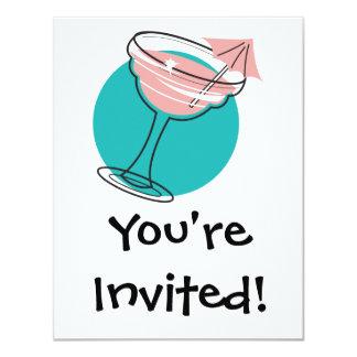 retro margarita design personalized invitation