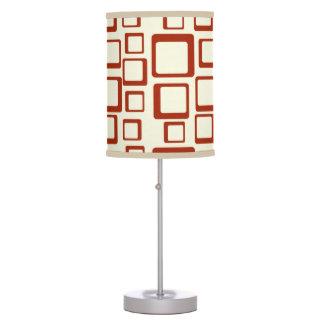 Retro Maroon Squares On Creme Table Lamp