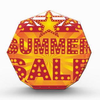Retro Marquee Summer Sale Sign Illustration Acrylic Award
